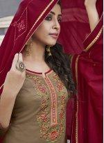 Cotton Ceremonial Designer Patiala Suit