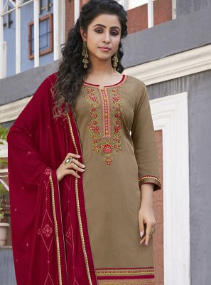 Cotton Ceremonial Designer Patiala Suit