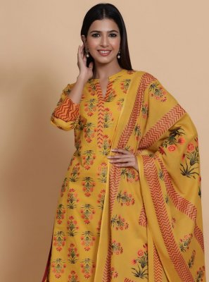 Cotton Ceremonial Readymade Salwar Suit