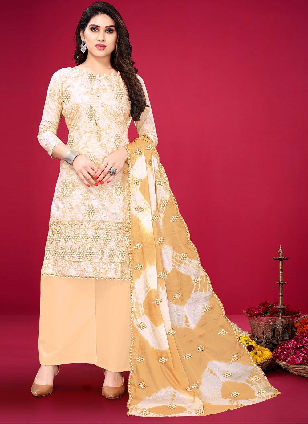Cotton Designer Palazzo Suit