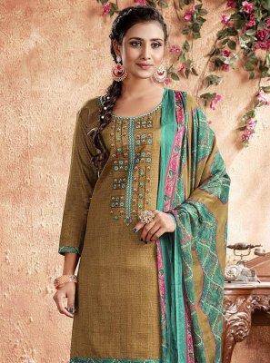 Cotton Embroidered Designer Patiala Suit