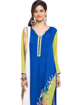 Cotton Embroidered Indo Western