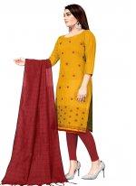 Cotton Festival Churidar Suit
