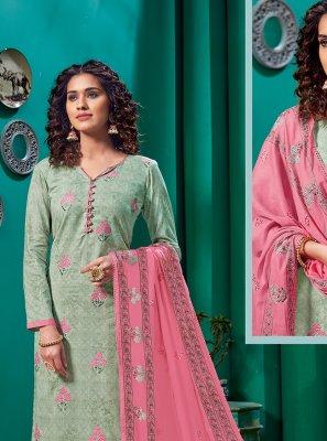 Cotton Green Churidar Salwar Kameez