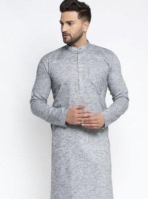 Cotton Grey Kurta Pyjama