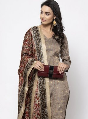 Cotton Grey Plain Trendy Salwar Kameez