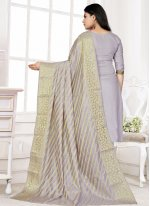 Cotton Lavender Woven Bollywood Salwar Kameez