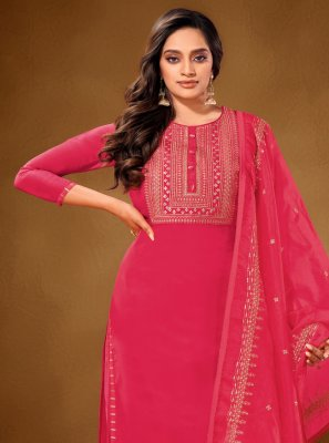 Cotton Lawn Hot Pink Designer Pakistani Salwar Suit