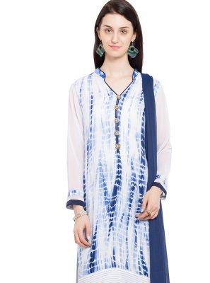 Cotton Off White Readymade Salwar Kameez