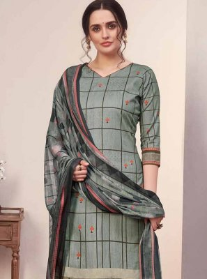 Cotton Party Designer Palazzo Salwar Suit