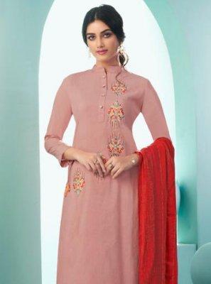 Cotton Peach Salwar Suit