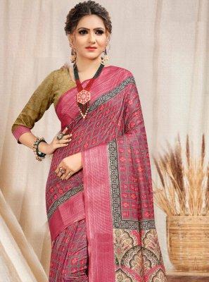 Cotton Pink Classic Designer Saree