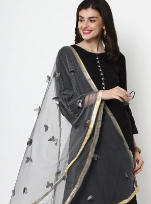 Cotton Plain Black Trendy Salwar Suit