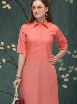 Cotton Plain Casual Kurti