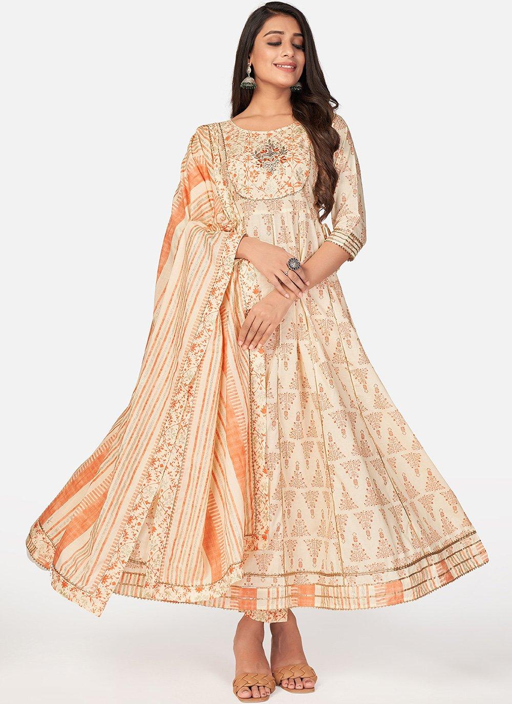 Cotton Print Anarkali Suit
