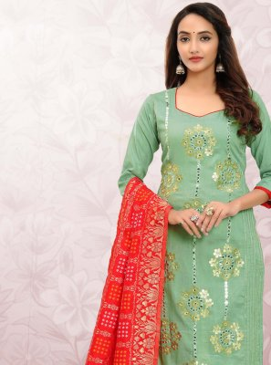Cotton Print Churidar Designer Suit