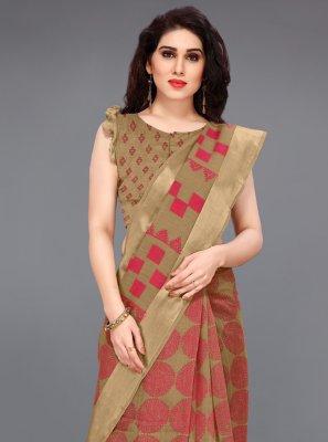 Cotton Printed Contemporary Saree