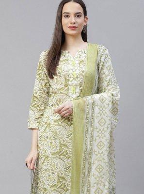 Cotton Printed Designer Suit