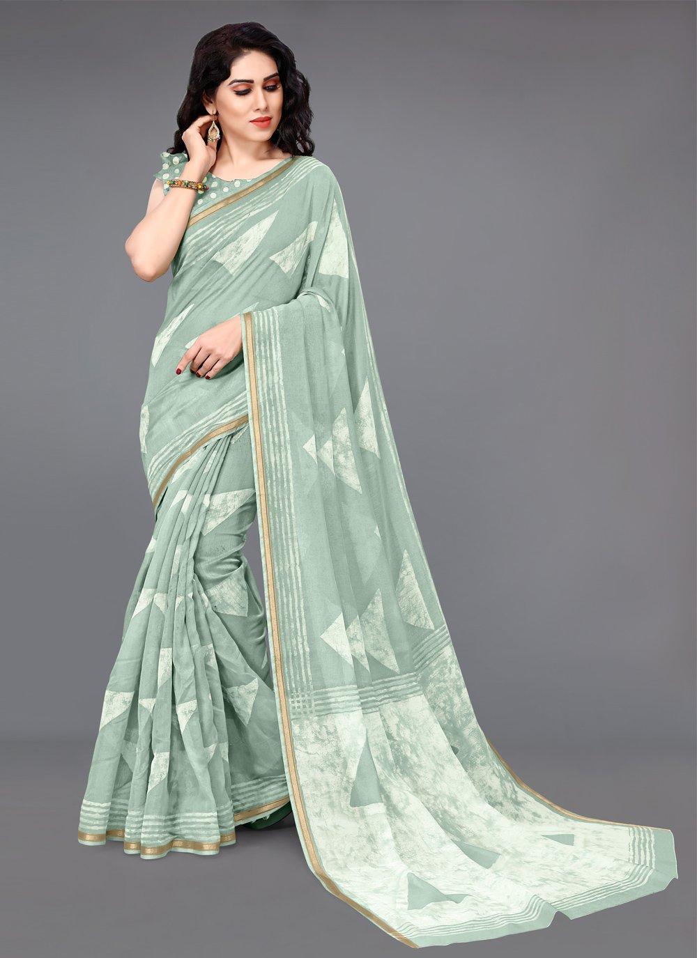 Cotton Printed Printed Saree