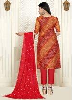 Cotton Red Bollywood Salwar Kameez