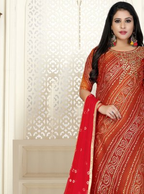 Cotton Red Bollywood Salwar Kameez