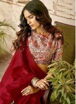 Cotton Red Classic Designer Saree