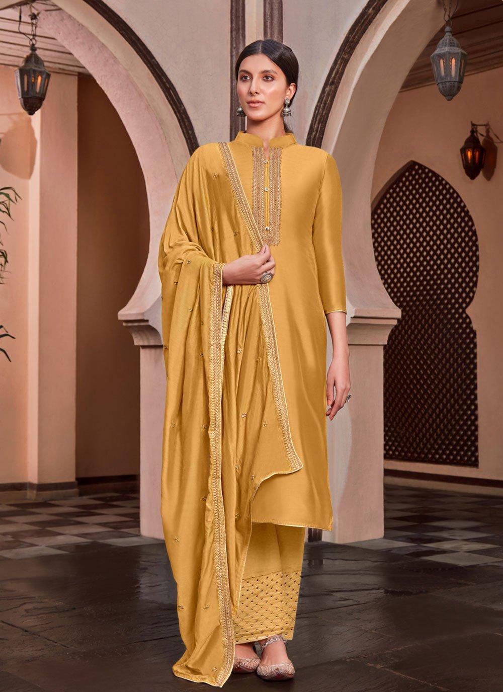 Cotton Silk Designer Palazzo Suit