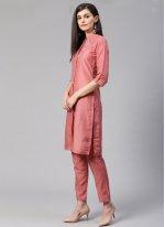 Cotton Silk Fancy Designer Kurti in Pink