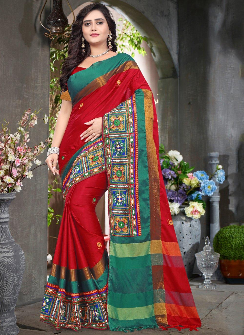 Cotton Silk Festival Designer Traditional Saree