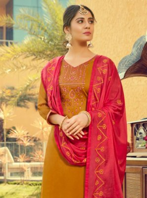 Cotton Silk Festival Patiala Suit