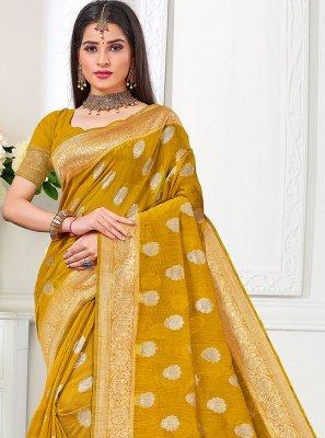 Cotton Silk Gold Traditional Saree