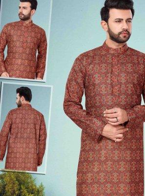 Cotton Silk Multi Colour Kurta Pyjama