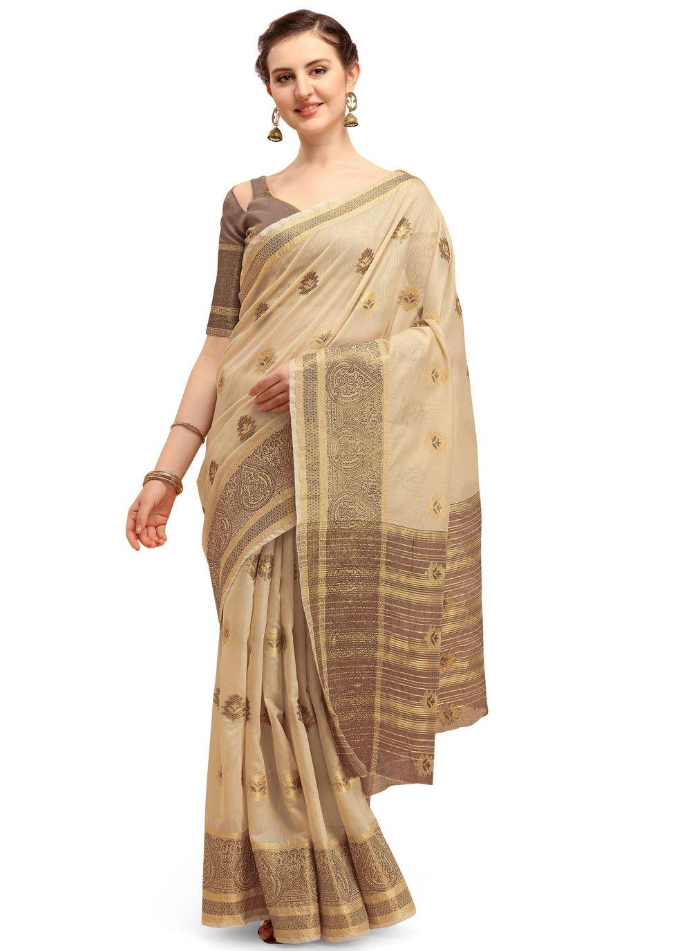 Cotton Silk Print Classic Designer Saree