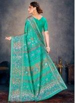 Cotton Silk Sea Green Traditional Designer Saree