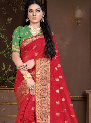 Cotton Silk Weaving Traditional Designer Saree