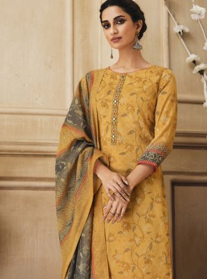 Cotton Yellow Trendy Salwar Kameez