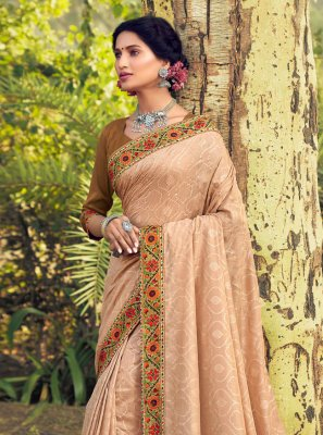 Cream Ceremonial Traditional Designer Saree