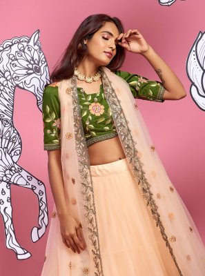 Cream Color A Line Lehenga Choli
