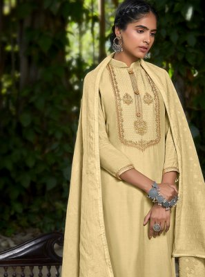 Cream Designer Pakistani Salwar Suit