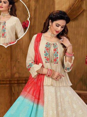 Cream Khadi Designer Suit