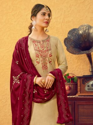 Cream Patiala Suit