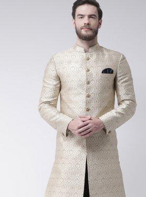 Cream Plain Sangeet Indo Western