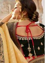 Cream Silk Engagement Traditional Designer Saree