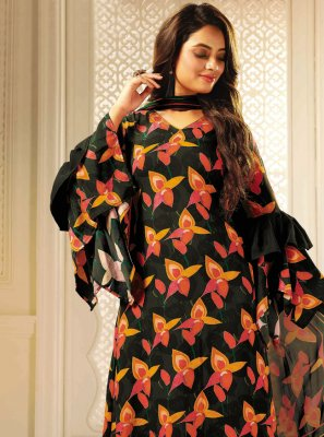 Crepe Silk Festival Designer Palazzo Salwar Kameez