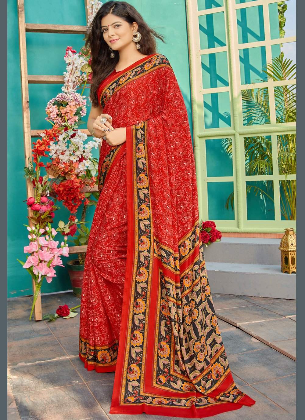 Crepe Silk Party Classic Saree