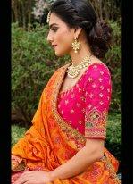 Designer Lehenga Choli Embroidered Silk in Pink