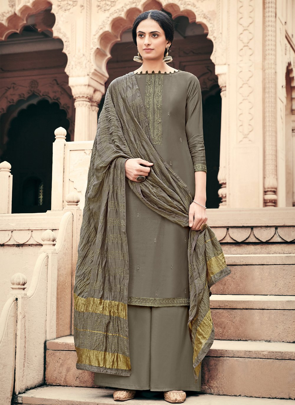 Designer Palazzo Suit For Festival