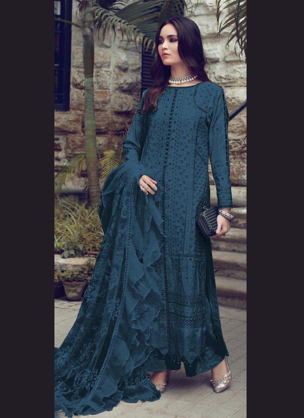 Designer Straight Suit Fancy Fancy Fabric in Green