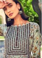 Designer Straight Suit Printed Pashmina in Multi Colour