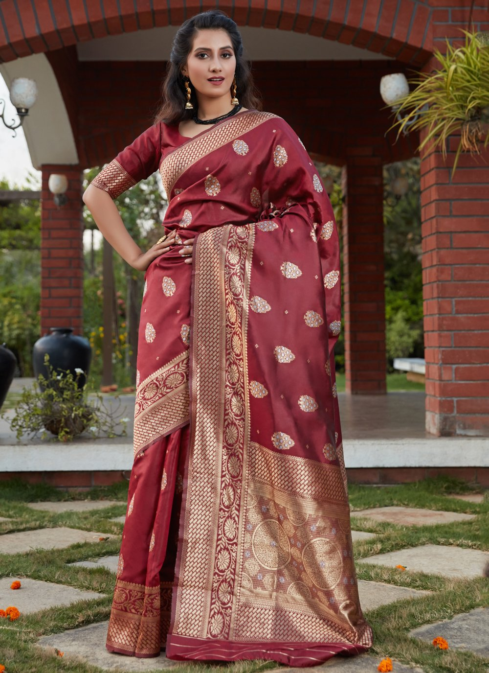 Designer Traditional Saree For Festival